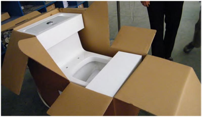 True to Whitehaus® standard, the toilets are packaged with great care and precision.