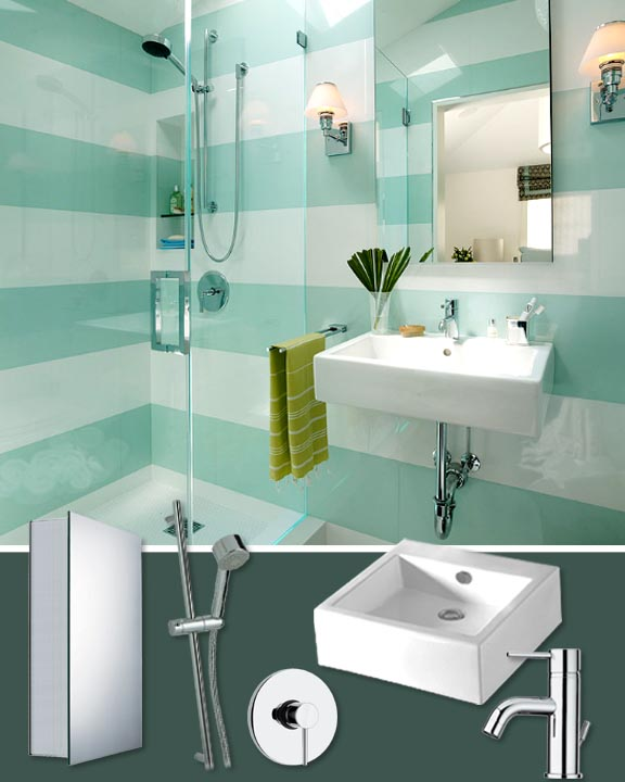 10 Trendy Kitchen And Bathroom Upgrades: Mood Board Monday #10: Bathroom, Gone Graphic