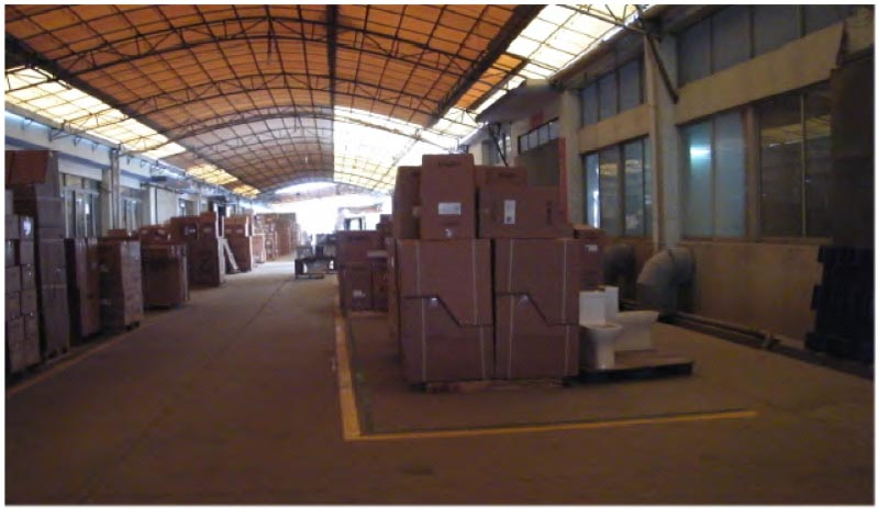 Secured carefully, the Magic Flush toilets are now ready for shipment from the warehouse!