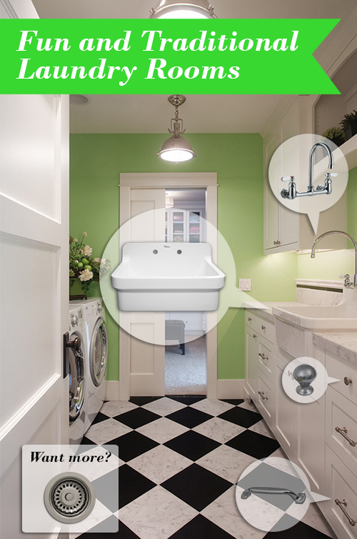 Fun & Traditional Laundry Rooms | Kitchen Bath Trends