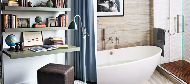 Celebrity Bathrooms: Relaxation Meets Travertine