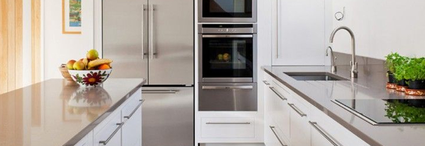 Sleek Surfaces | 10 Décor Tips To Make Your Small Kitchen Feel Larger