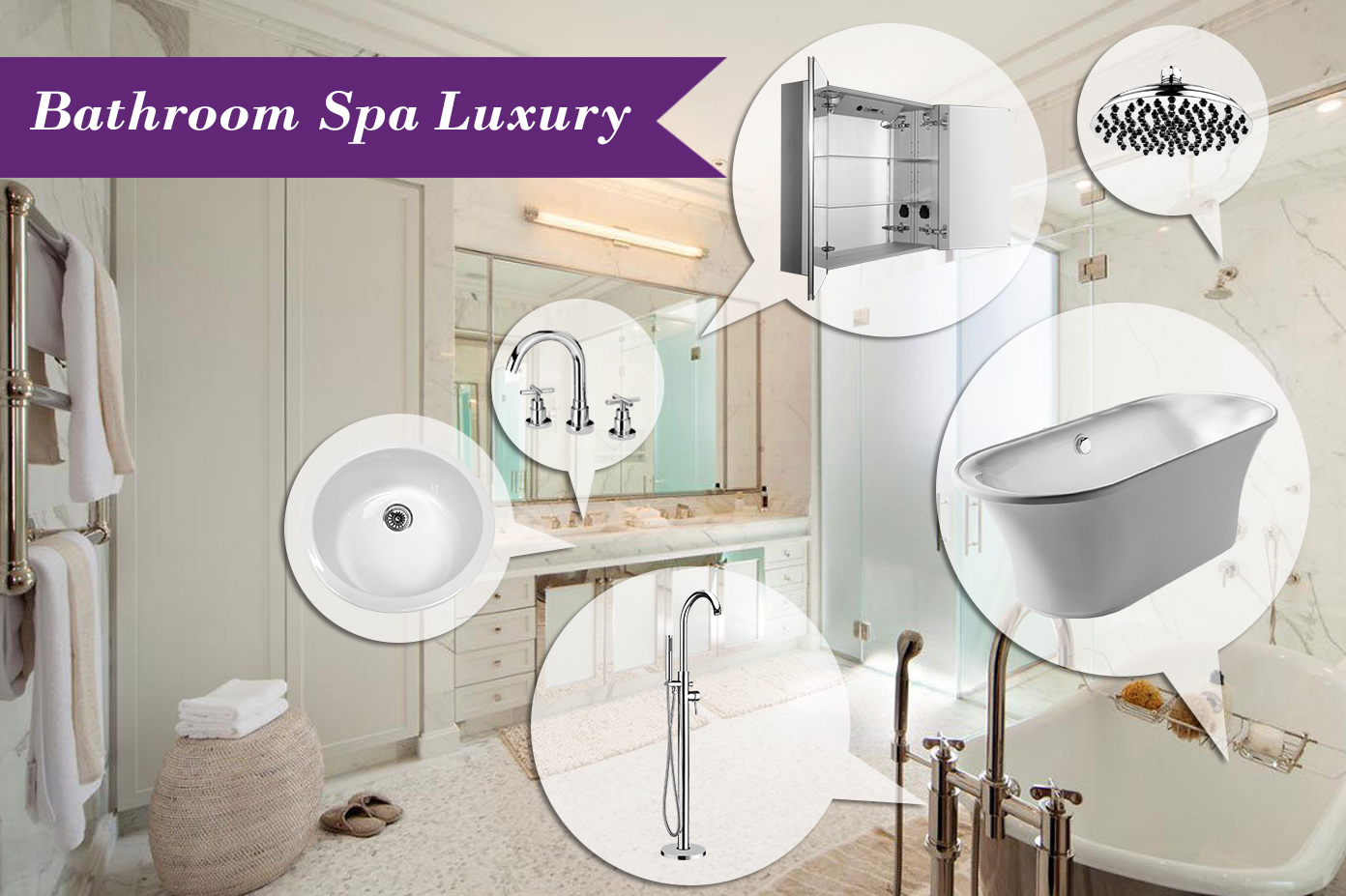 Mood Board Monday #83: Bathroom Spa Luxury - Kitchen Bath Trends