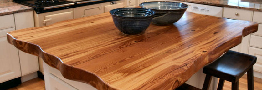 Reclaimed Wood Butcher Block Island | Designing With Reclaimed Wood