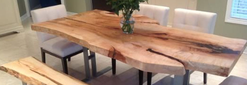 Reclaimed Wood Slab Table | Designing With Reclaimed Wood