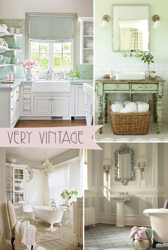 Pinterest Trends Very Vintage| Kitchen Bath Trends