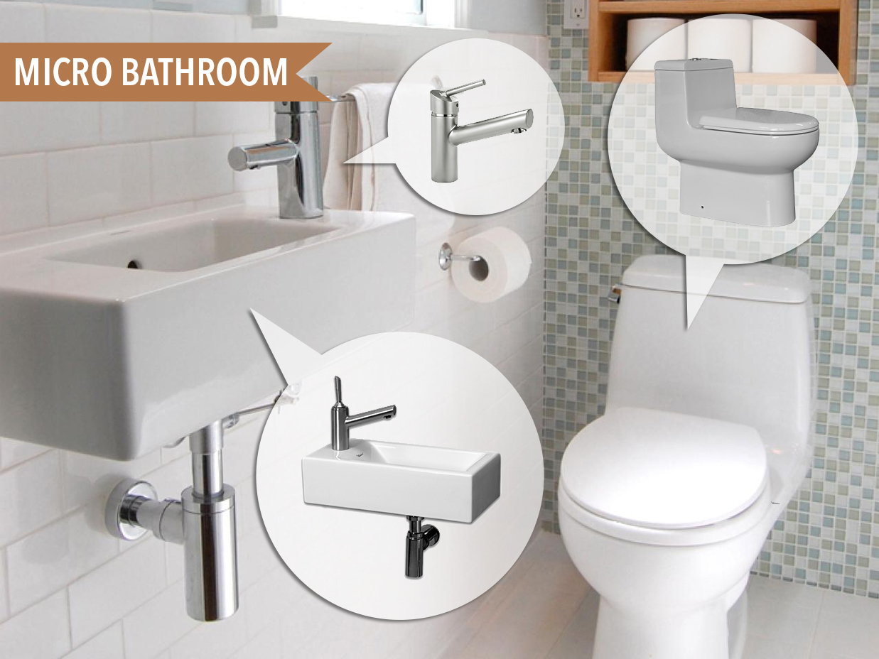 Micro Bathroom | Kitchen Bath Trends