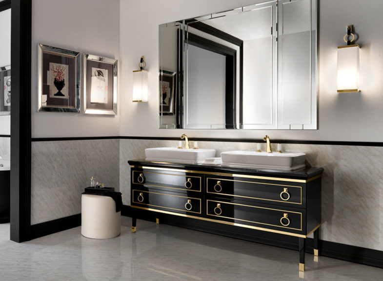 Art deco drama in the bathroom kitchen bath trends for Trend bathroom and kitchen