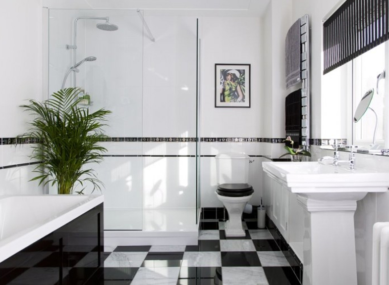 Art Deco Drama In The Bathroom Kitchen Bath Trends