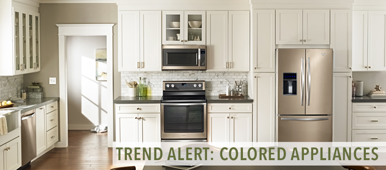 Trend alert colored appliances kitchen bath trends for Latest trends in kitchen appliances