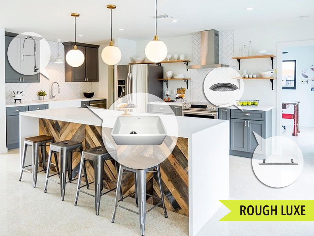 Delightful Mood Board Monday #98: Rough Luxe | Kitchen Bath Trends